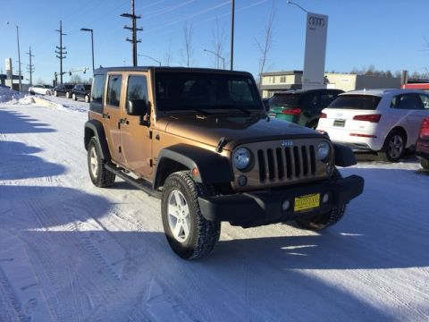 Pre-Owned 2015 Jeep Wrangler Unlimited Sport Four Wheel Drive Sport Utility